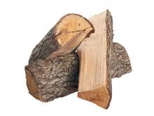 Oak Firewood. Isolated