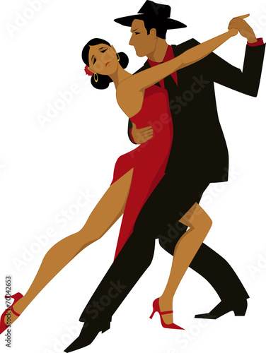 Photo  Couple dancing tango