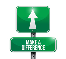 Make A Difference Sign Illustr...