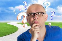 Question Mark Creative Man Choice