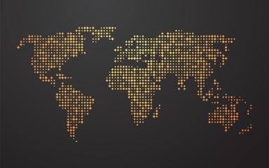 fototapeta gwieździsta mapa świata