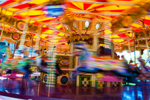 View Of Carousel With Horses O...
