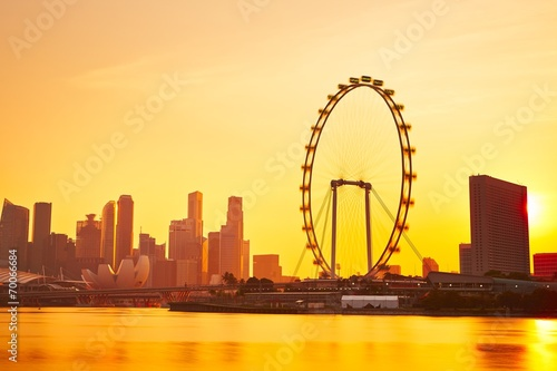 Tuinposter Singapore Sunset in Singapore