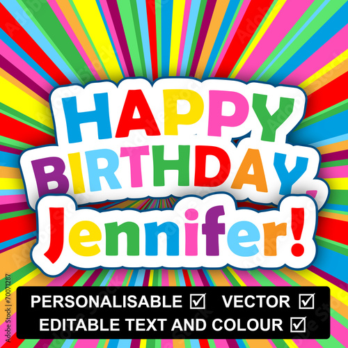 HAPPY BIRTHDAY Card Personalisable Text Name Insert Your