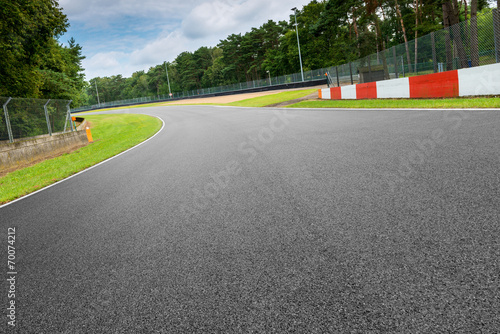 Tuinposter Motorsport motorsport rennstrecke in zolder belgien