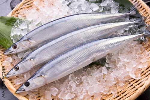 Deurstickers Vis 秋刀魚