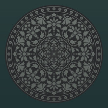Ornamental Round Pattern In Indian Style. Vector Illustration