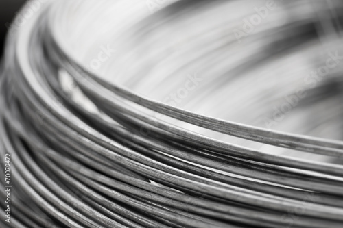 close up steel wire Fotobehang