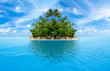 canvas print picture - tropical island in ocean