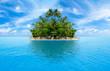 Leinwandbild Motiv tropical island in ocean