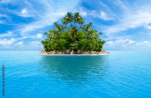 Deurstickers Eiland tropical island in ocean
