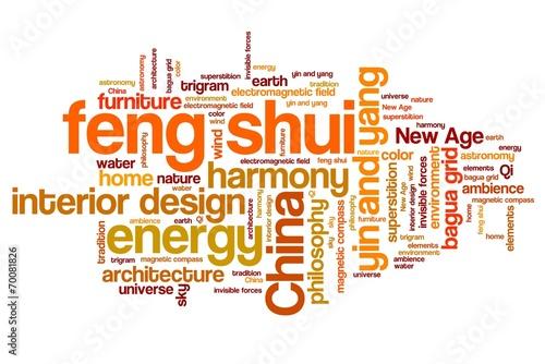 Fotografía  Feng shui - word cloud concepts