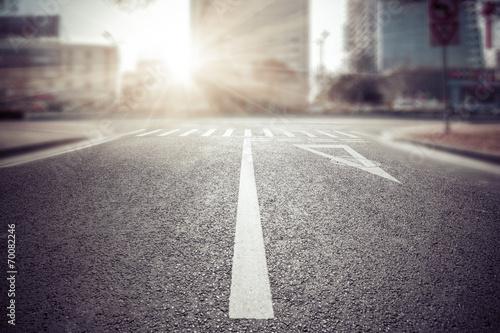 Fototapeta empty street