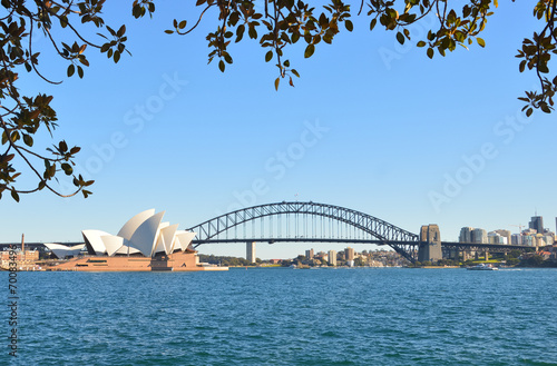 fototapeta na drzwi i meble Opera House i Harbour Bridge