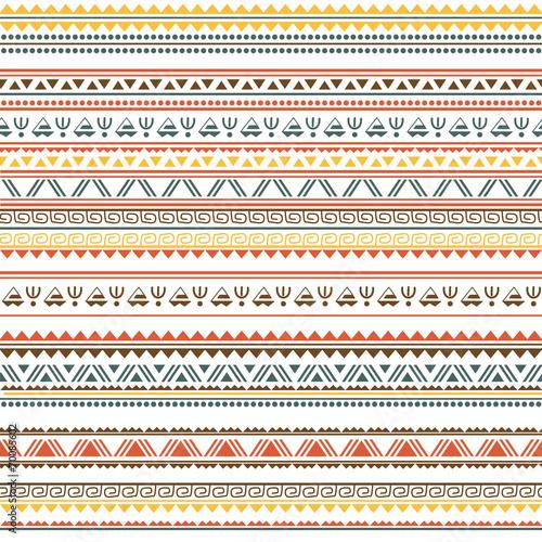 Foto auf AluDibond Boho-Stil Tribal ethnic seamless pattern