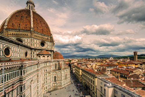 Photo sur Toile Florence The Basilica di Santa Maria del Fiore in Florence, Italy
