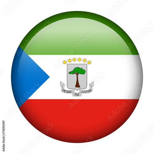 Fotografía  Equatorial Guinea flag button