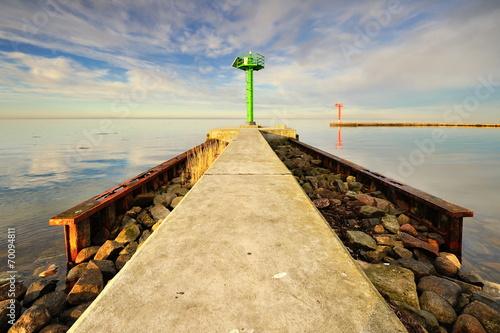 Fotobehang - Morze, falochron portowy