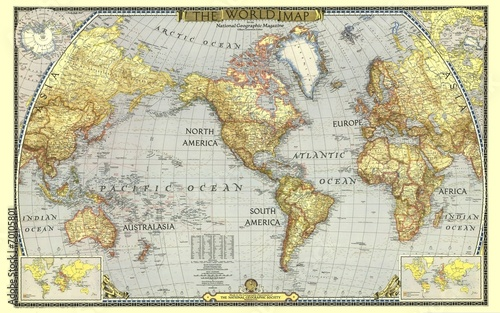 La pose en embrasure Carte du monde World
