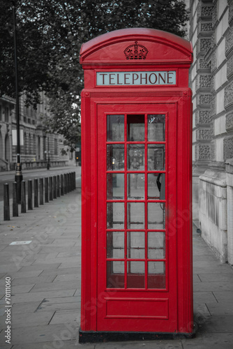 phone booth in london Poster
