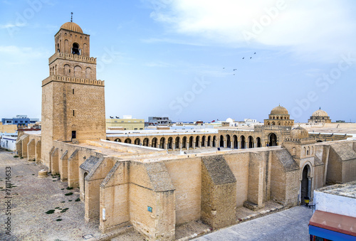 Staande foto Tunesië Great Mosque of Kairouan, Tunisia