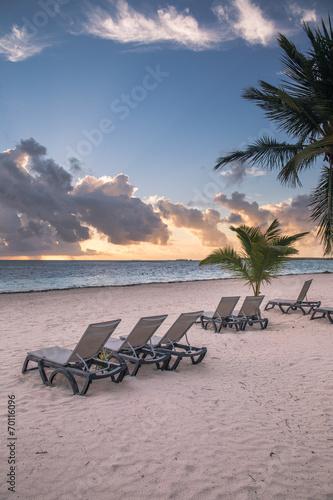Foto op Plexiglas Caraïben Caribbean Beach at sunrise