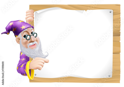 Sign Cartoon Wizard Wallpaper Mural
