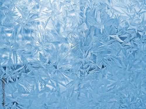Fotografie, Obraz  Ice pattern on winter window