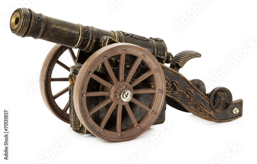 Fototapeta decorative cannon isolated on the white background