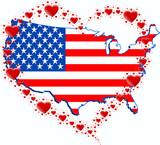 Fototapeta Nowy Jork - USA i serce z serc
