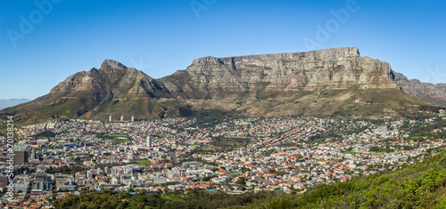 Poster Afrique du Sud Cape Town and the Table Mountain