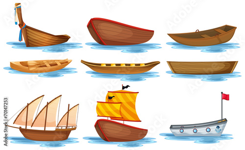 Fotografia Boat set