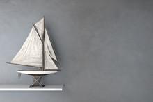 Modell Vom Segelschiff Auf Regal