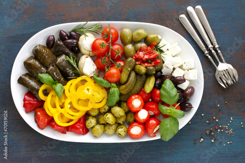 Canvas Prints Appetizer Antipasti plate