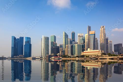 Spoed Foto op Canvas Canada Singapore city skyline at Marina Bay