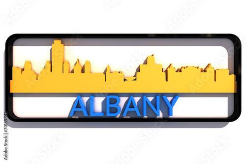 Fotografia, Obraz  Albany USA base colors of the flag of the city 3D design