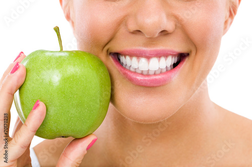 woman with an apple Canvas-taulu