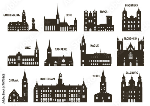 фотография  Silhouettes of cities