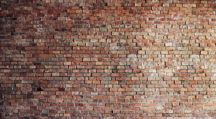 Pusty czerwony ceglany ściana tło