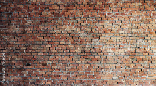 Deurstickers Baksteen muur Empty Red Brick Wall Background