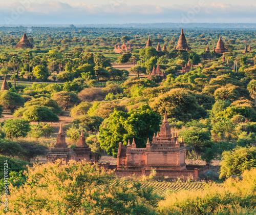 Fototapety, obrazy: Pagoda view in Bagan where has a few thousand of pagoda, Myanmar