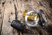 Glass Of Whiskey And Car Keys