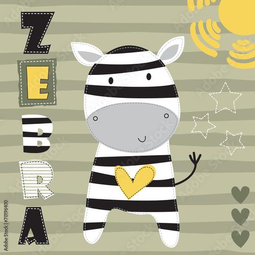 Abstrakcyjna zebra