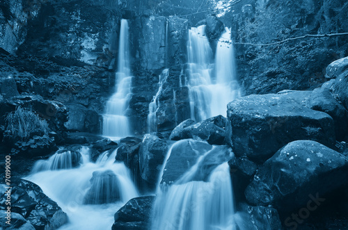 waterfall in the forest - 70199000
