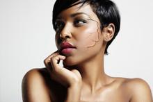 Pretty Black Woman With A Crac...
