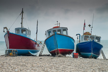 Fishing Boats On Beer Beach, Dorset