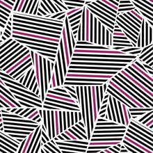 Pink In Black Pattern
