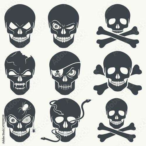 Photo  Skull icons.