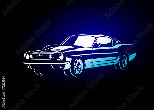 Photo  Muscle car