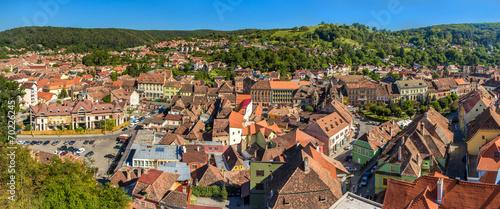 Fotografie, Obraz  Panorama of Sighisoara town in Romania, Transylvania